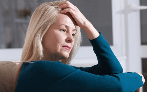 Stressed and anxious woman relaxes with Hypnosis